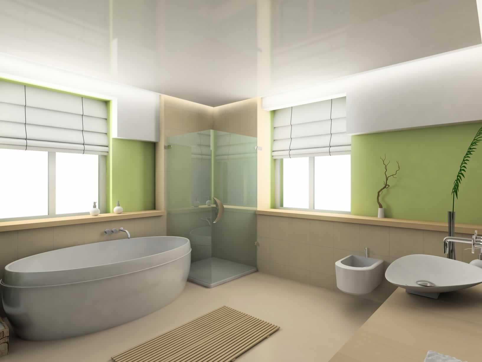 Badezimmer Grün: Badezimmer Fliesen Beispiele Mit Keramik In Weis ... Badgestaltung Mit Farbe Frohliches Farbschema Gefallt Den Kindern